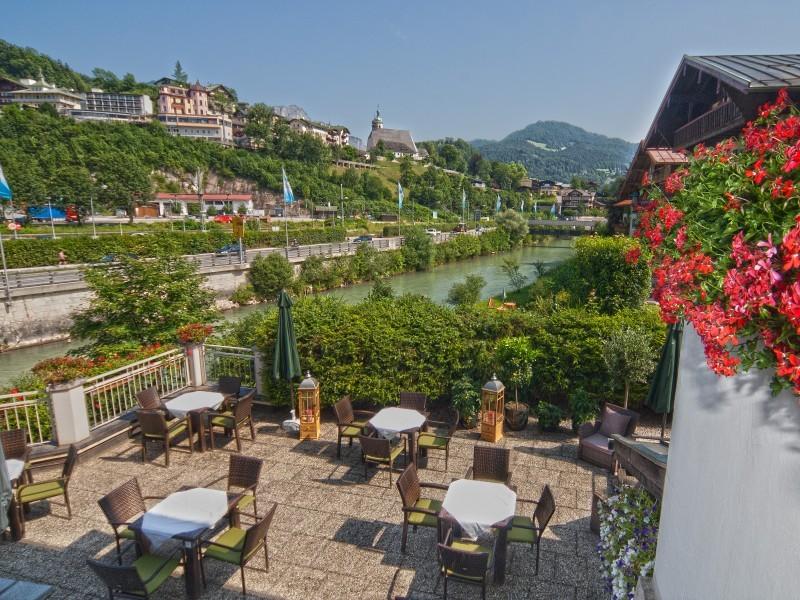 Terrasse Hotel Grünberger in Berchtesgaden