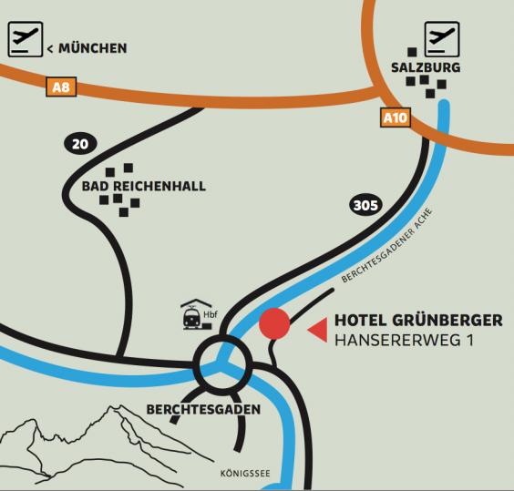 Anreise Hotel Grünberger